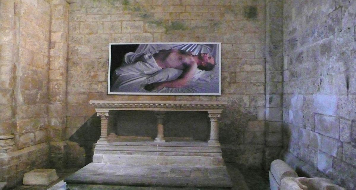 Fergus Martin and Anthony Hobbs,  My Paradise Is Now,  Eglise de Saint Pierre,Melle, France  2013