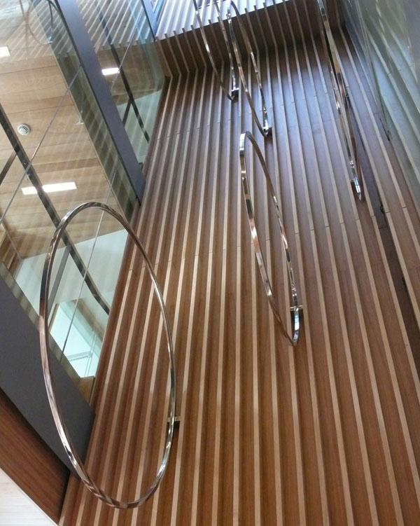 Lincoln Place  2010  Stainless steel  Sculpture for 4-storey atrium  Dimensions variable