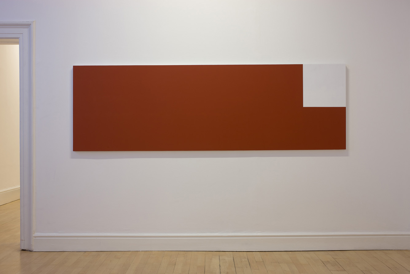 Ground  2008  acrylic on canvas  82 x 263 cm