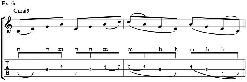 Nick Johnston Guitar - Arpeggio Sequence Lick - Ex. 5a
