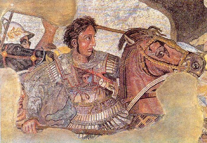 Alexander and Bucephalus at the battle of Issus