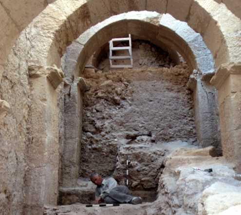 The monumental entryway at Herodium