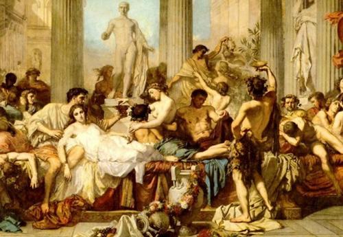 A Saturnalia celebration.