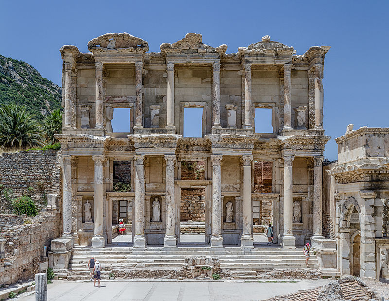 """Ephesus Celsus Library Façade"" by Benh LIEU SONG - Own work. Licensed under CC BY-SA 3.0 via Wikimedia Commons"