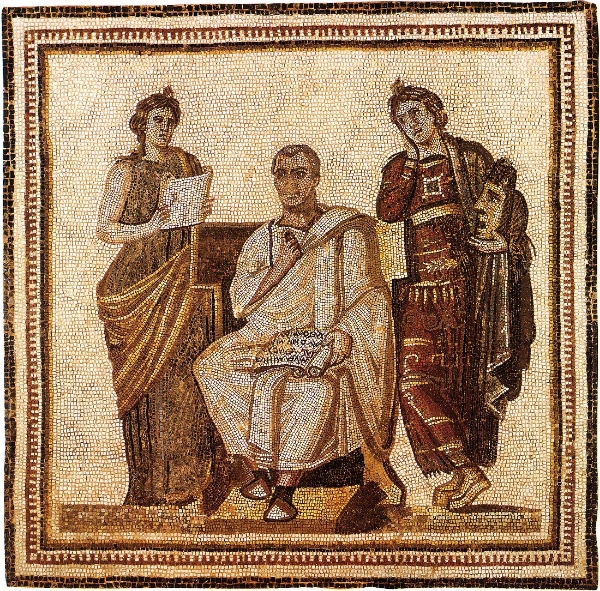 The Augustan poet Vergil in a 3rd-century mosaic or Peer Reviewers deciding a submission's fate...you decide.