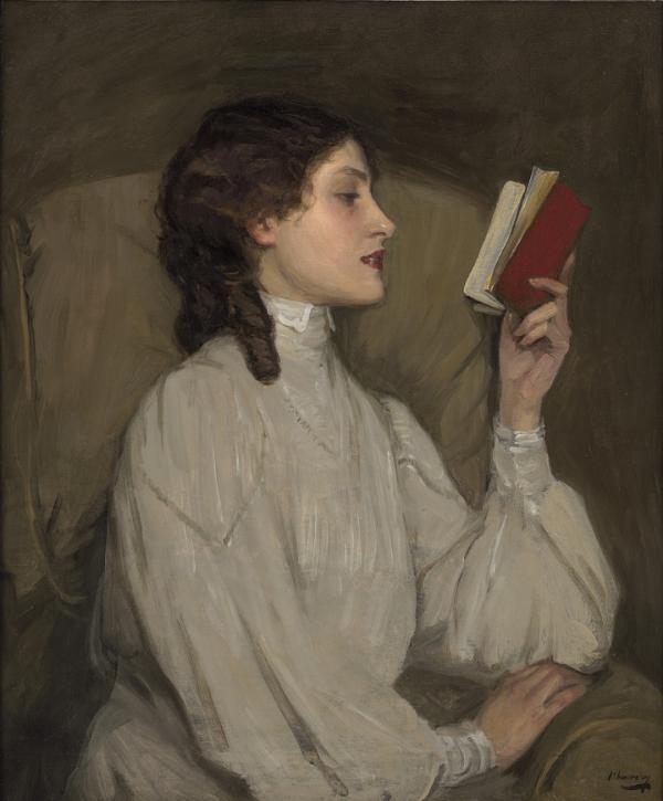 Miss Auras, The Red Book (1907). John Lavery [Public domain], via Wikimedia Commons