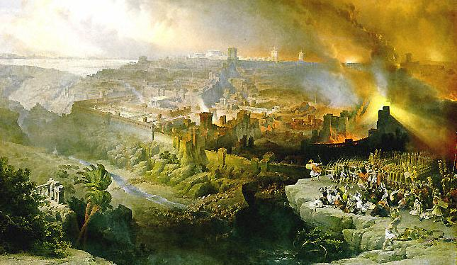 """Siege of Jerusalem"" by David Roberts, via Wiki Commons"