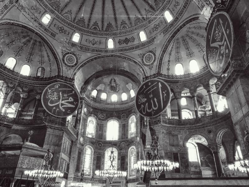 Ceiling of Hagia Sophia,Istanbul. Krista Dalton 2015.