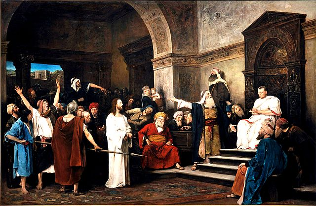 A more famous governor of Judaea than Marcus Paccius... Munkacsy, Christ in Front of Pilate, public domain.