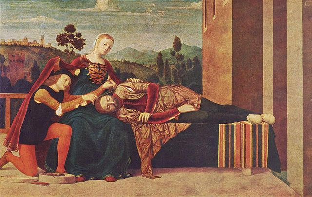 Maybe he was an Achaean?...Samson and Delilah, by Francesco Morone