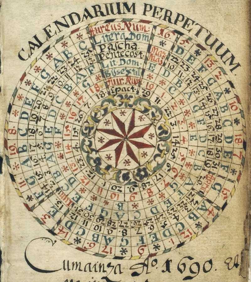 Julian calendar from Graubünden. Foto von I.J. Andri, Müstair/CH, hochgeladen von Dr.-Ing.