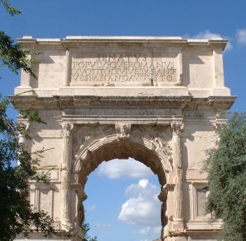 The passe Arch of Titus, photo credit: By John Morton - Flickr.
