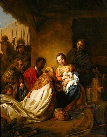 Jan de Bray, Adoration of the Magi, via  Wikimedia Commons , Public Domain.