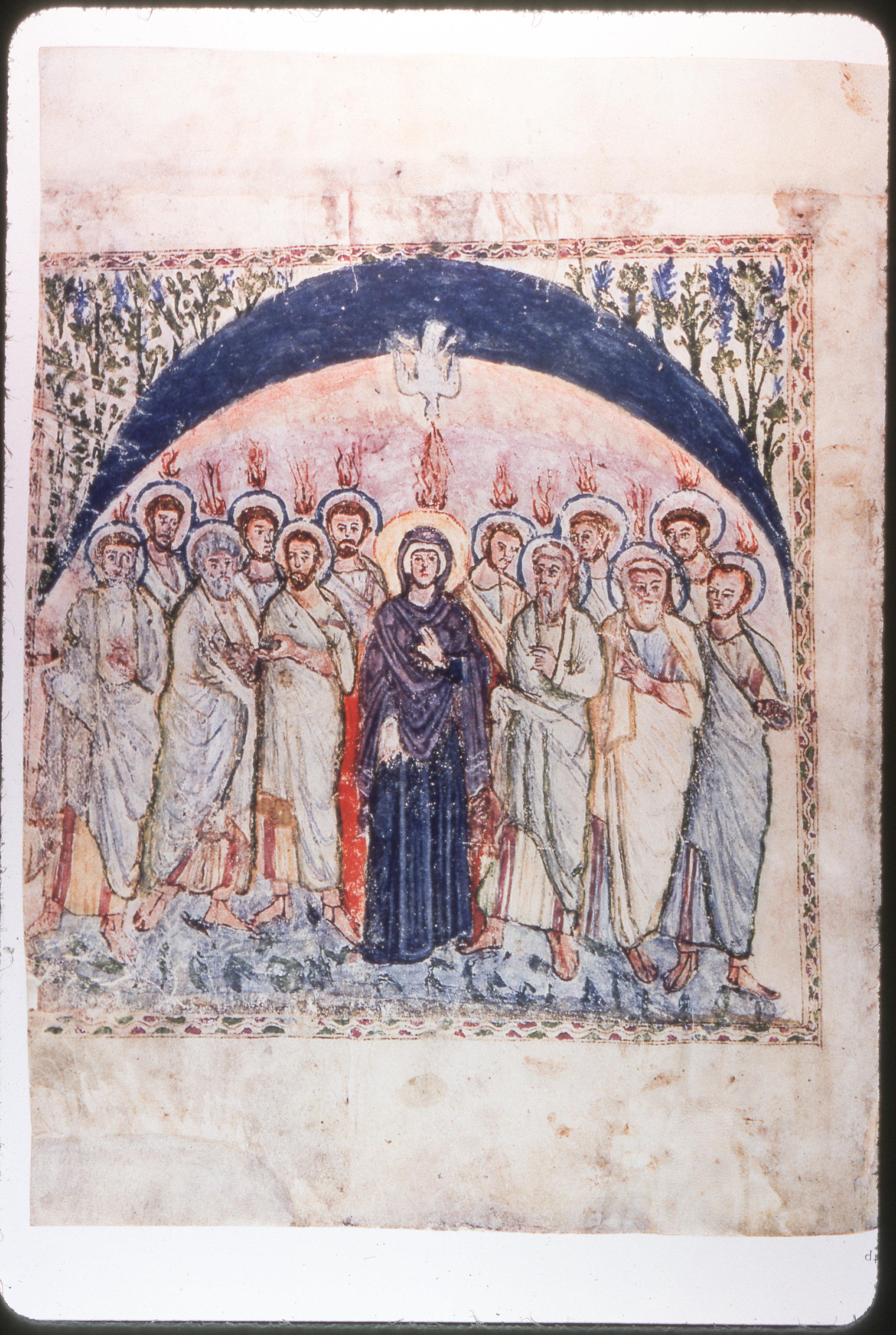 Mary and the Disciples at Pentecost | Rabbula Gospels, fol. 14b | Image credit:  Everett Ferguson photo collection