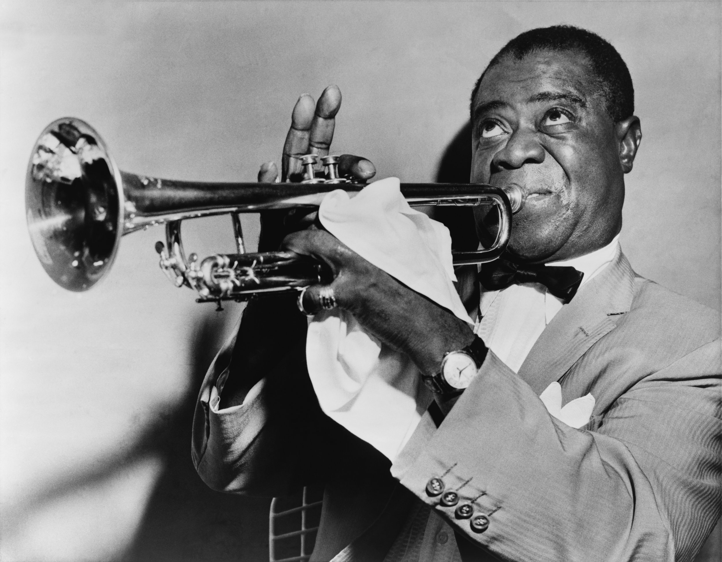 Louis Armstrong, Library of Congress 's  Prints and Photographs division under the digital ID  cph.3c27236 .