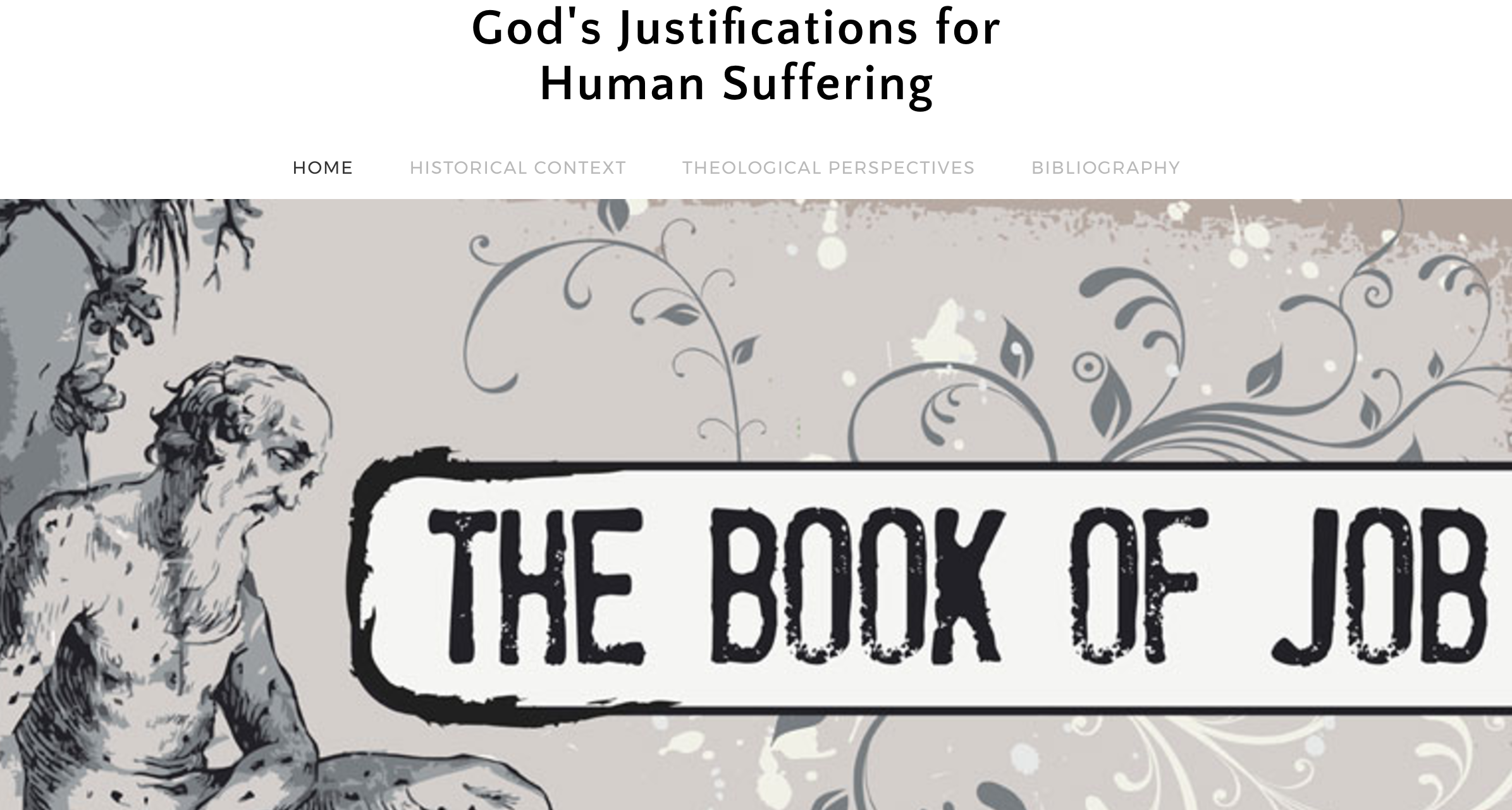Sample webpage from Biblical Theology Spring 2017 semester.