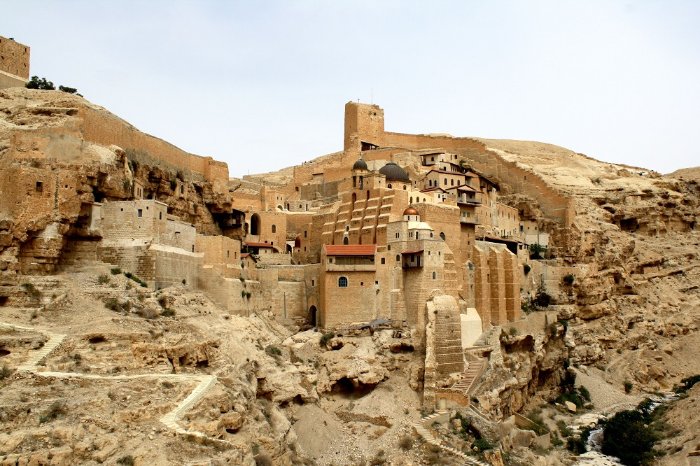 Monastery of Mar Saba, Kidron Valley | Traditionally founded in 483CE |  Image source