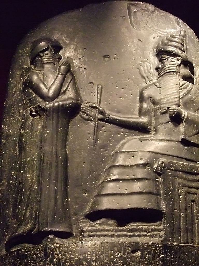 Louvre Reproduction of the Law Code of Hammurabi via CC BY-SA 2.0  Mary Harrsch