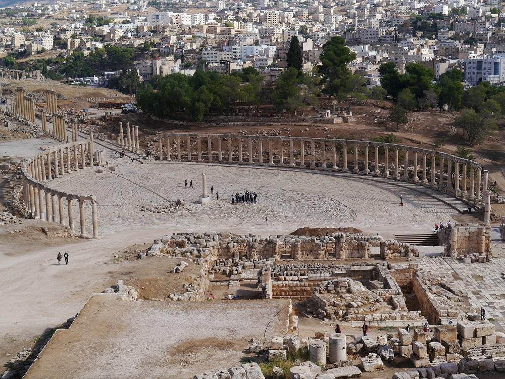 The Oval Forum, Gerasa |  Image source