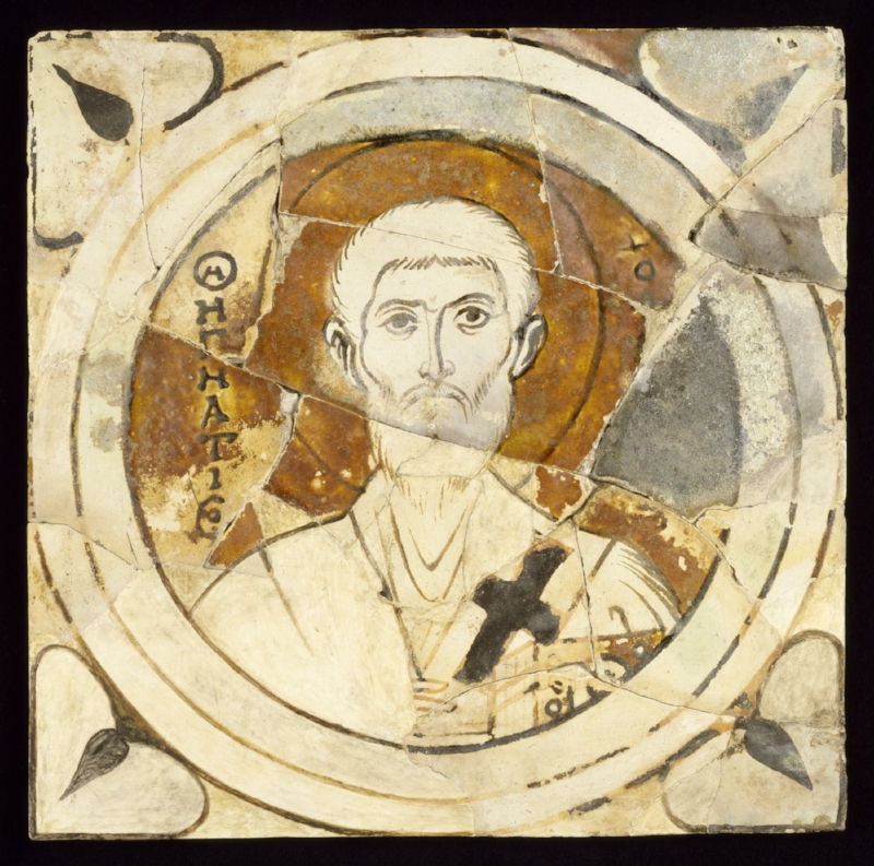 Saint Ignatius of Antioch  - 10th century ceramic (Turkey) courtesy of The Walters Museum