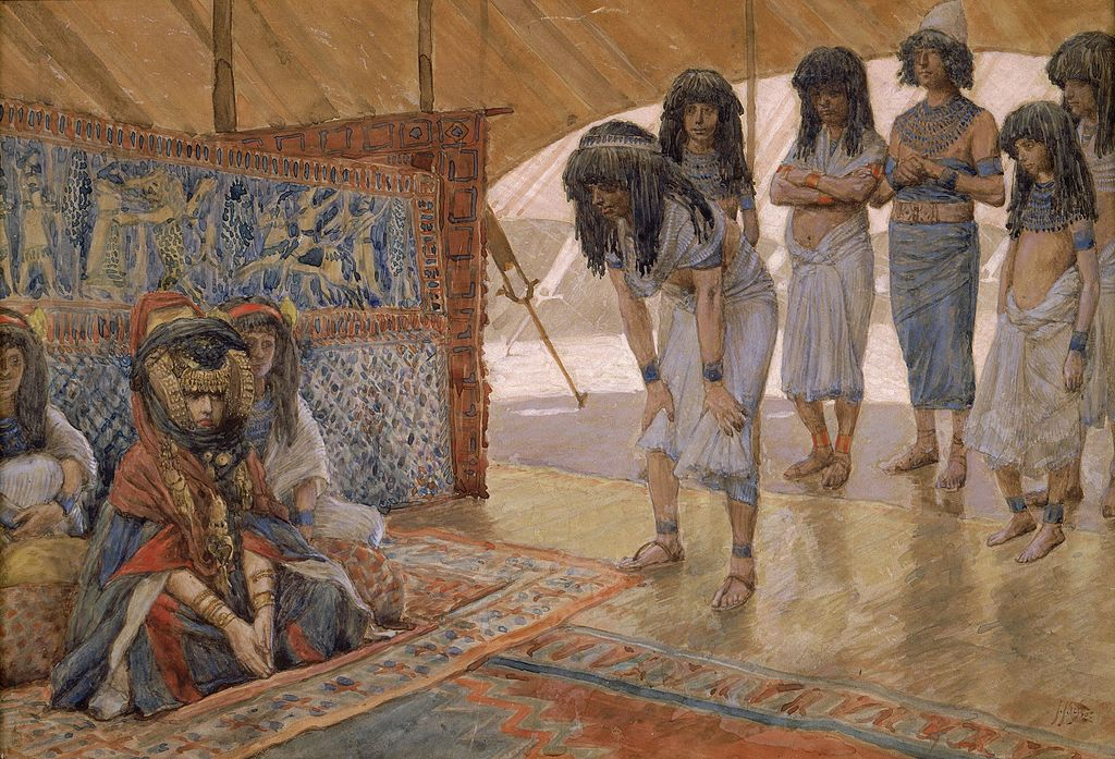 """Sarai Is Taken to Pharaoh's Palace"" by James Tissot. The Jewish Museum of NYC."