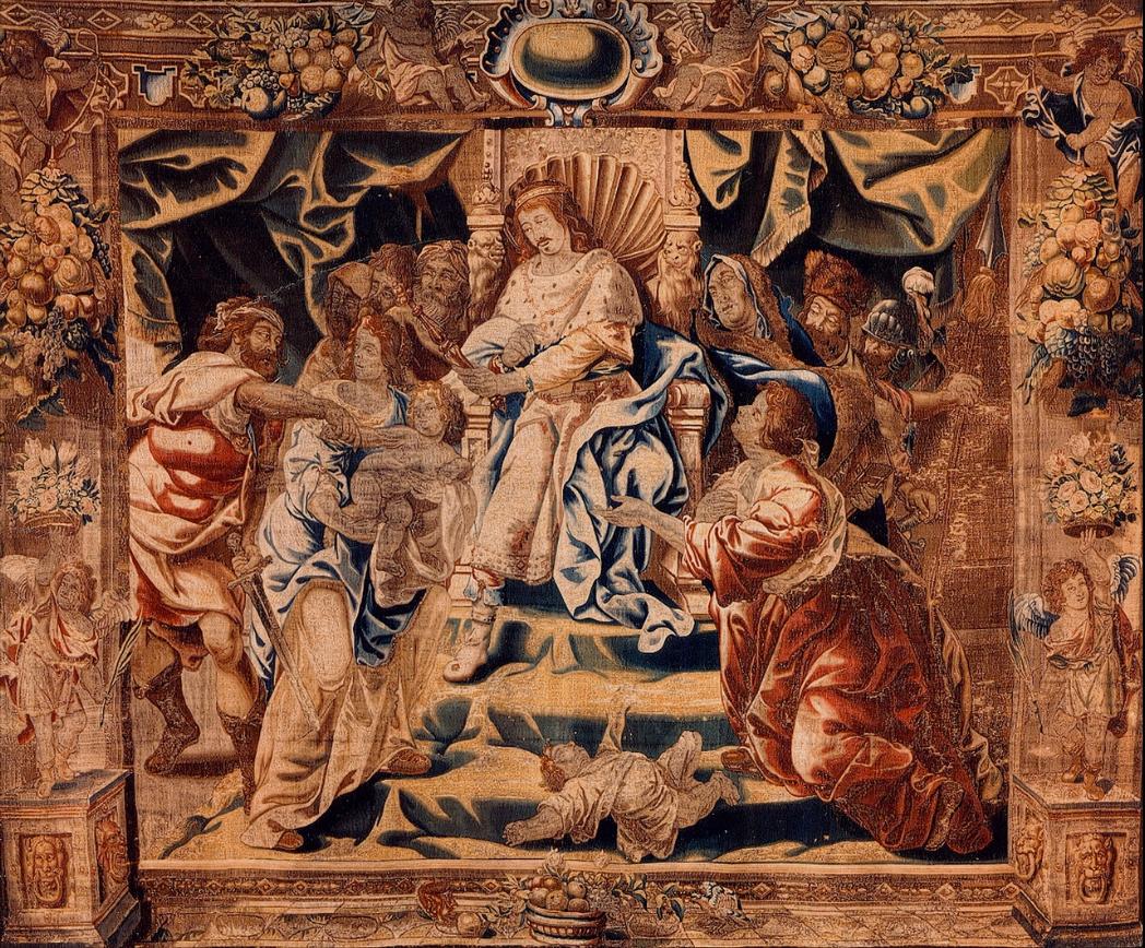 Judgement of Solomon by Antoine Sallaert in Stedelijke Administratie Roeselare. Public Domain.