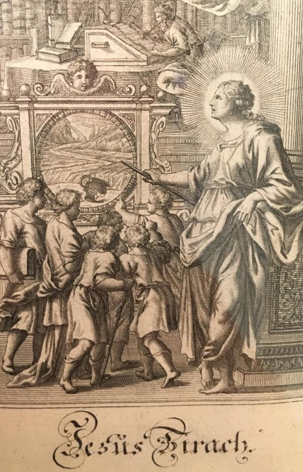 Print introducing Sirach from 17th century Claes Janszoon Visscher Dutch Polyglot Bible