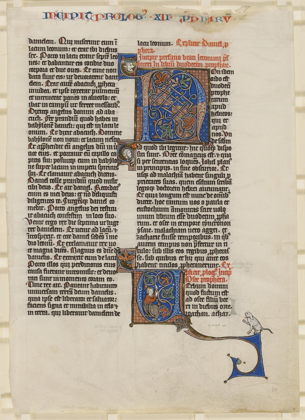 Illuminated leaf from the Book of Hosea | From a Bible made for the Teutonic Knights at Nieuwe Biesen, ca. 1300 |  Image Source