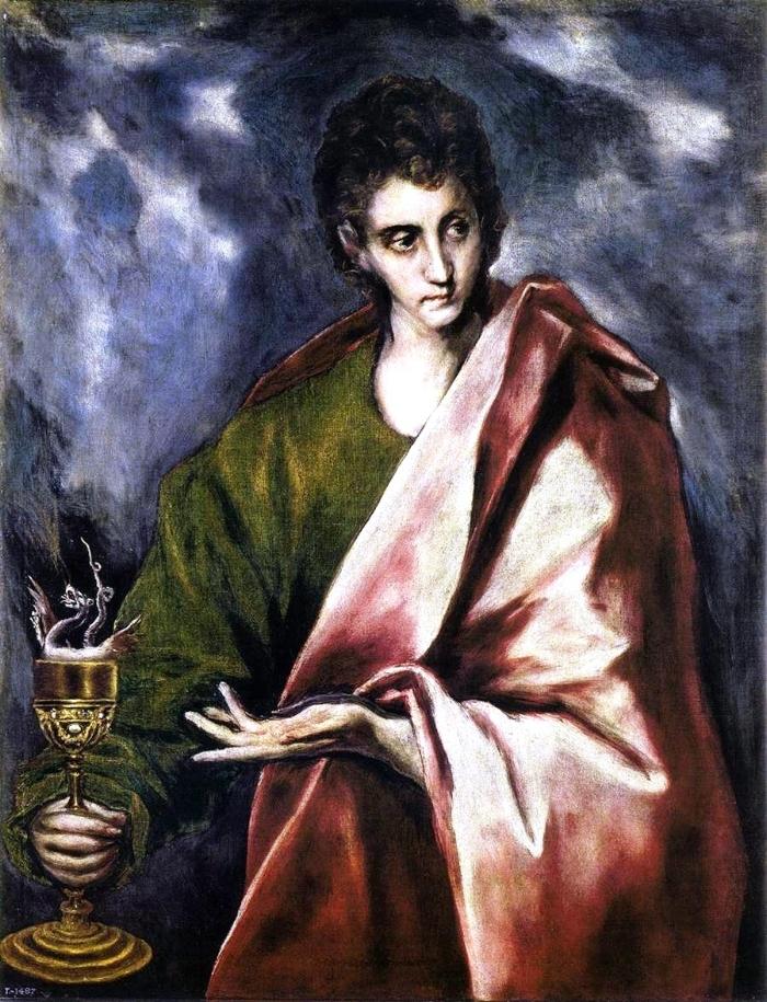 "El Greco, ""Saint John the Evangelist"" (ca. 1605) |  Image Source"