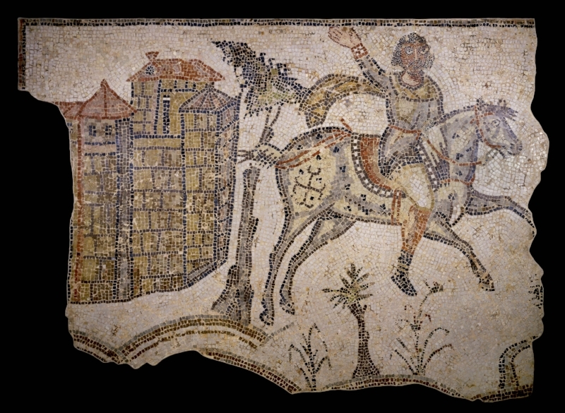 """Vandal"" Horseman Mosaic from Carthage  (ca. 450-550 CE) - Courtesy of the  British Museum"