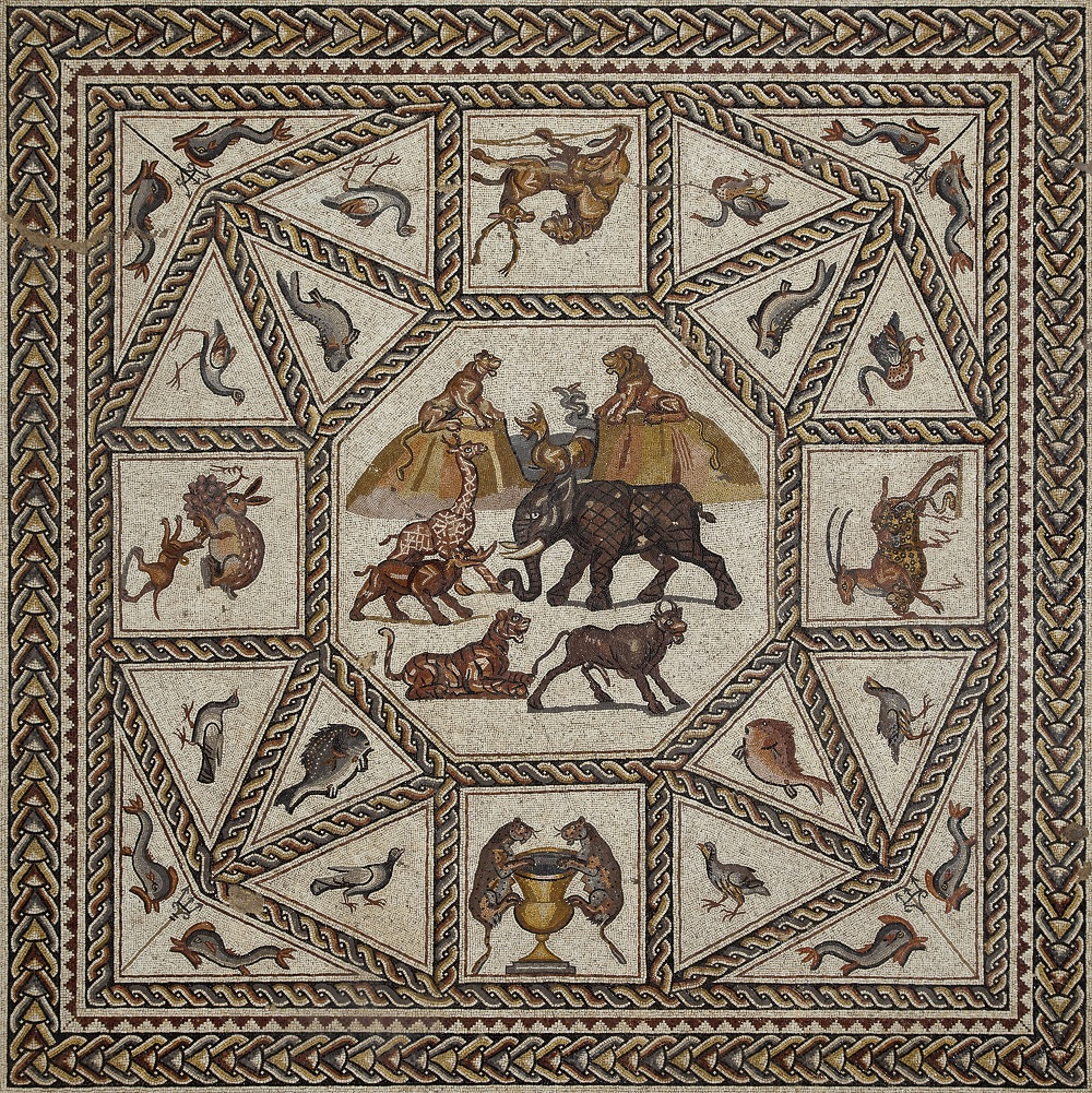 Detail from the Lod Mosaic | Third-century mosaic from Lod, Israel |  Image Details