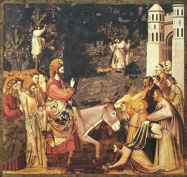 Giotto di Bondone, Entry into Jerusalem, 14th c. CE ( Wikimedia Commons )