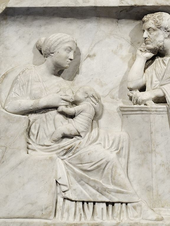 Figure from the sarcophagus of Marcus Cornelius Statius, ca. 150 CE, Louvre Museum (Image courtesy of  Marie-Lan Nguyen )