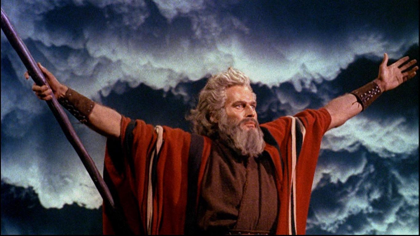 Charlton Heston in The Ten Commandments (1956).
