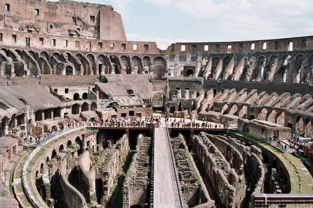 The Flavian Amphitheatre (Colosseum) | Rome, completed by Titus in 80CE |  Image Source