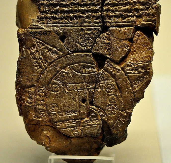 Babylonian Map ca. 6th century BCE ( Wikimedia Commons )