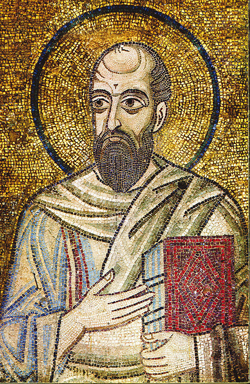The Apostle Paul in St. Sophia of Kyiv via Wiki Commons.