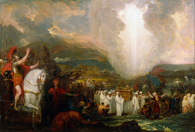 Joshua passing the River Jordan with the Ark of the Covenant  by Benjamin West, 1800