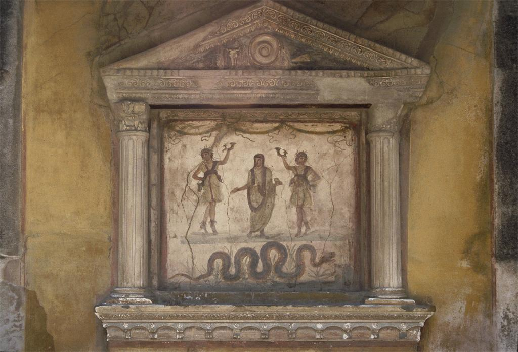 A shrine to the lares in the House of the Vettii in Pompeii (Artstor)
