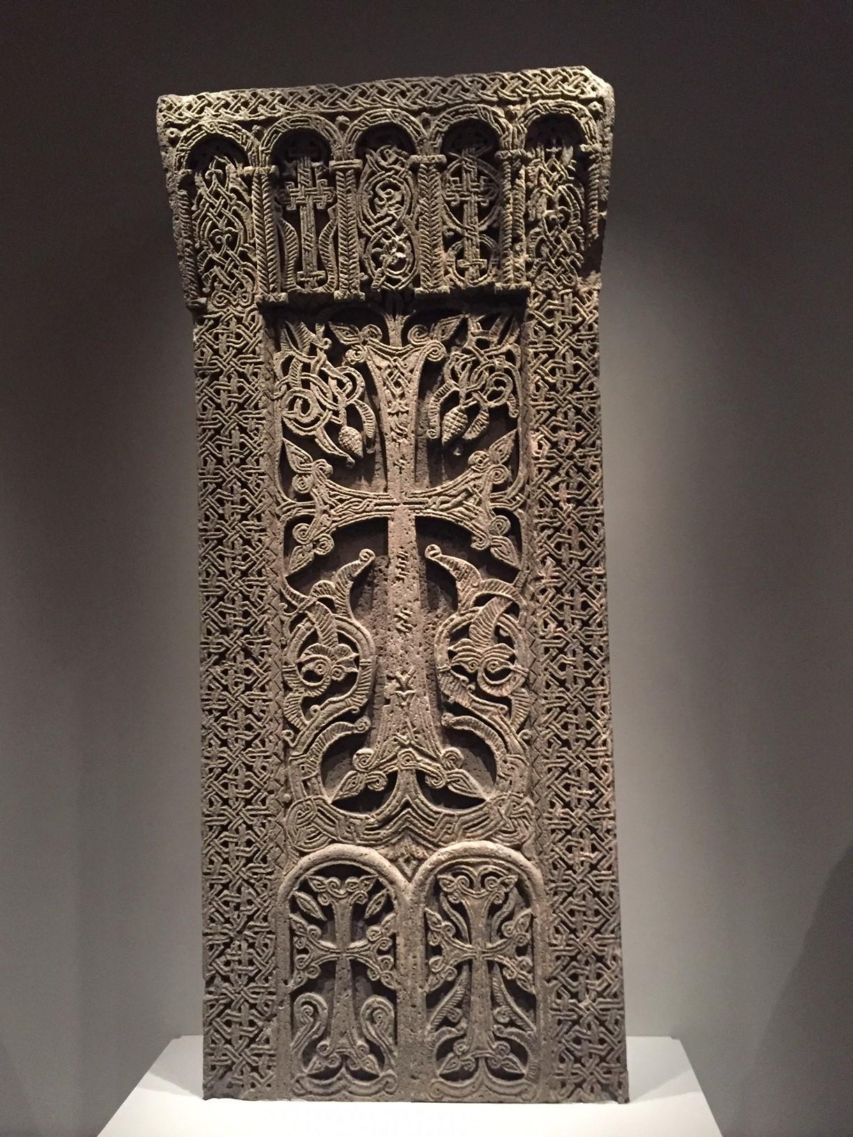 Armenian  Khachkar , Monastery of Havuts Tar, Ayrarat (XII-XIII ce), History Museum of Armenia, Yerevan, 2936 (photo courtesy of the author).