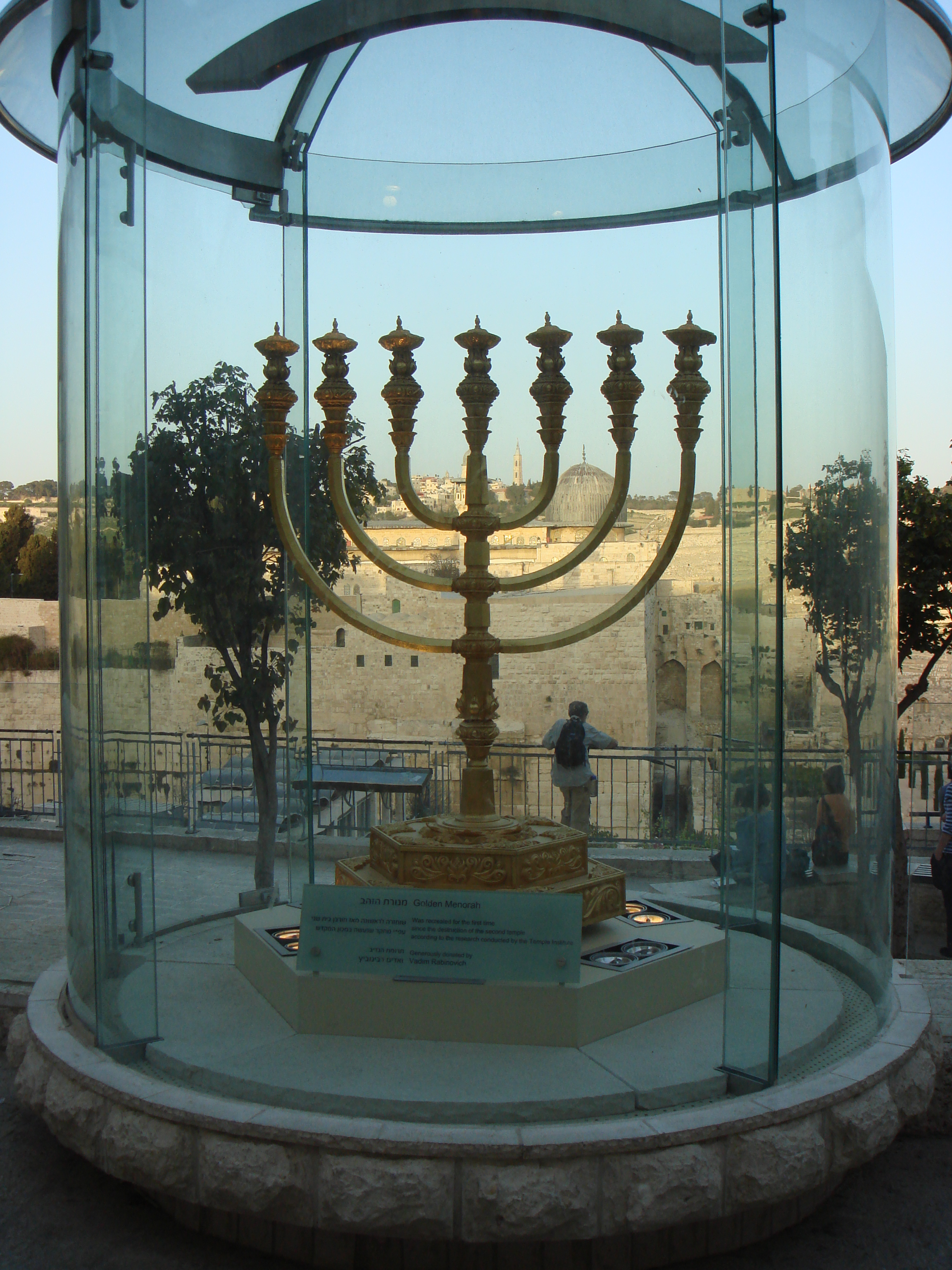 Menorah for the Third Temple, Jewish Quarter, Jerusalem, March 2008 (photo courtesy of the author).
