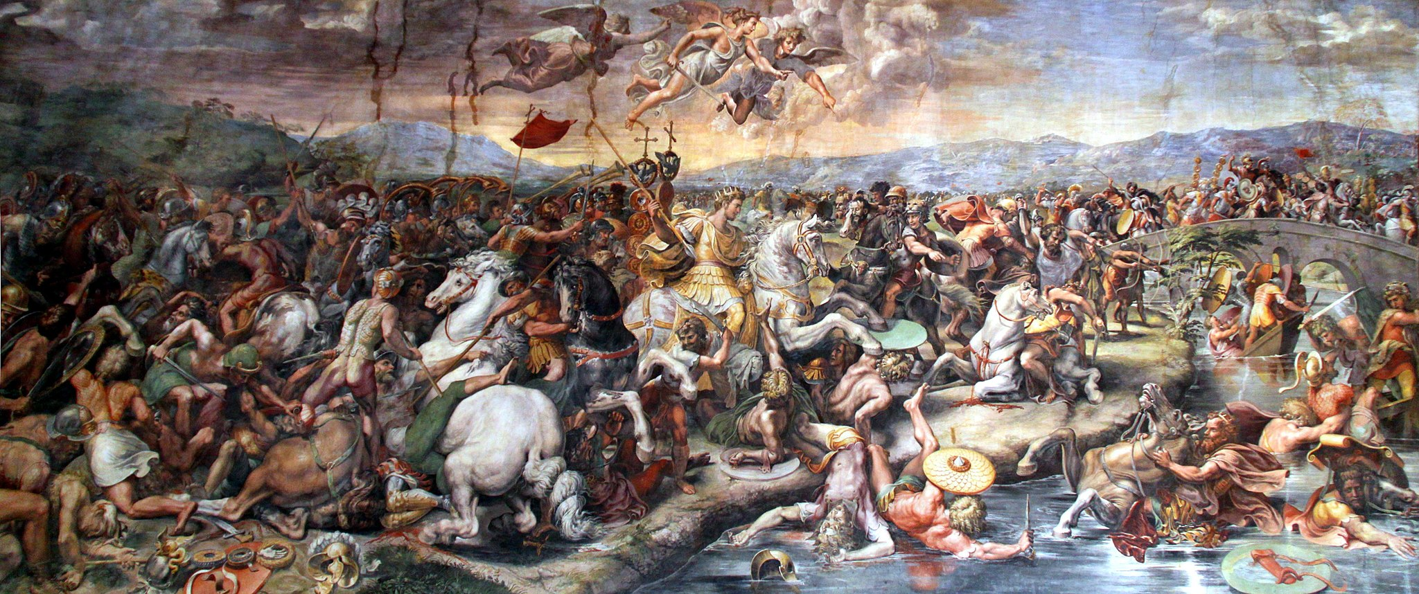 Giulio Romano, Battle of the Milvian Bridge (1520-1524),  Vatican City