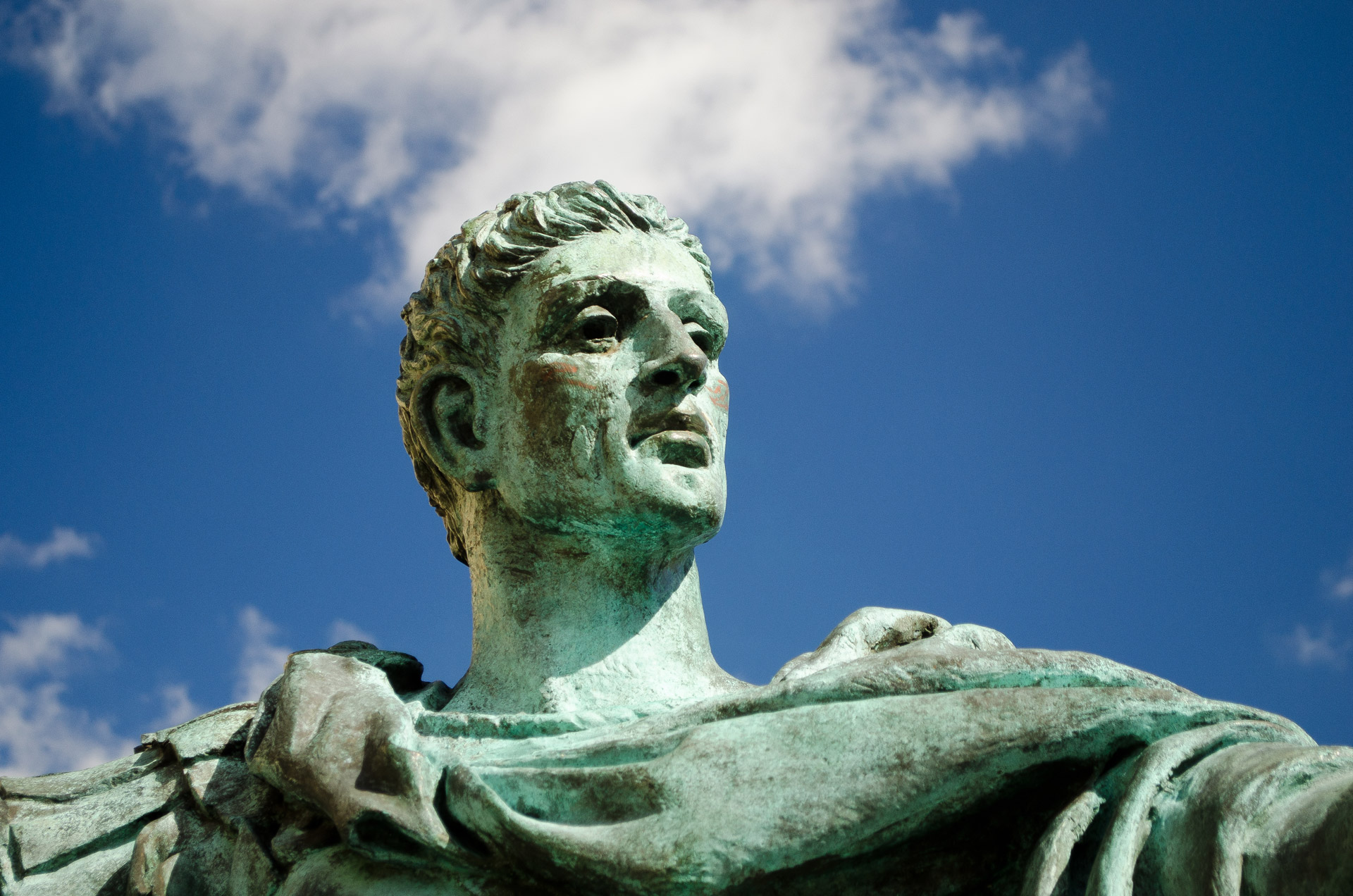 Statue of Constantine the Great outside York Minster, York, UK ( Source )