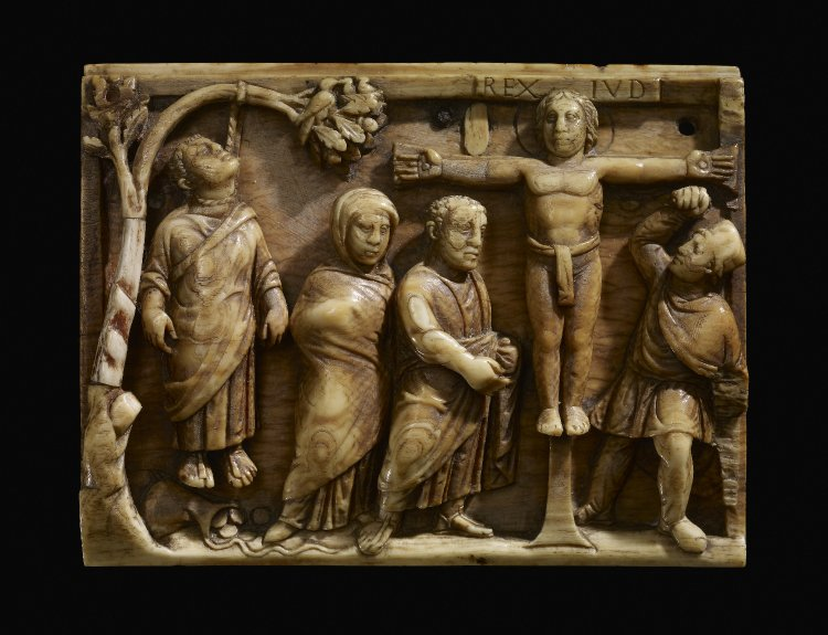 Ivory of the Crucifixion, Rome ca. 420-430 (Image courtesy of the  British Museum ).