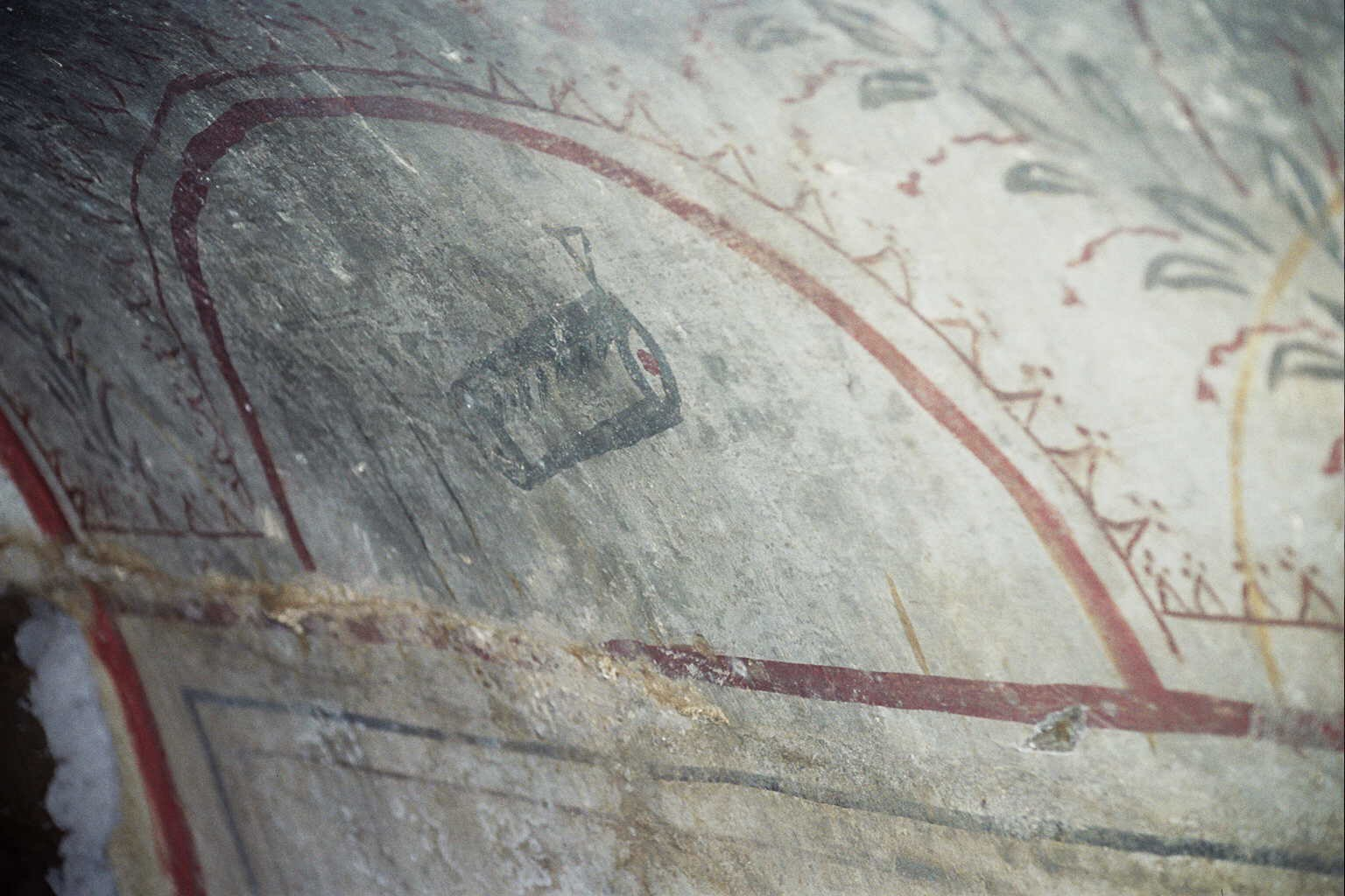Fig. 4 Wall Painting of a Scroll, Villa Torlonia Catacomb, Rome, (photograph by Lawrence Schiffman).