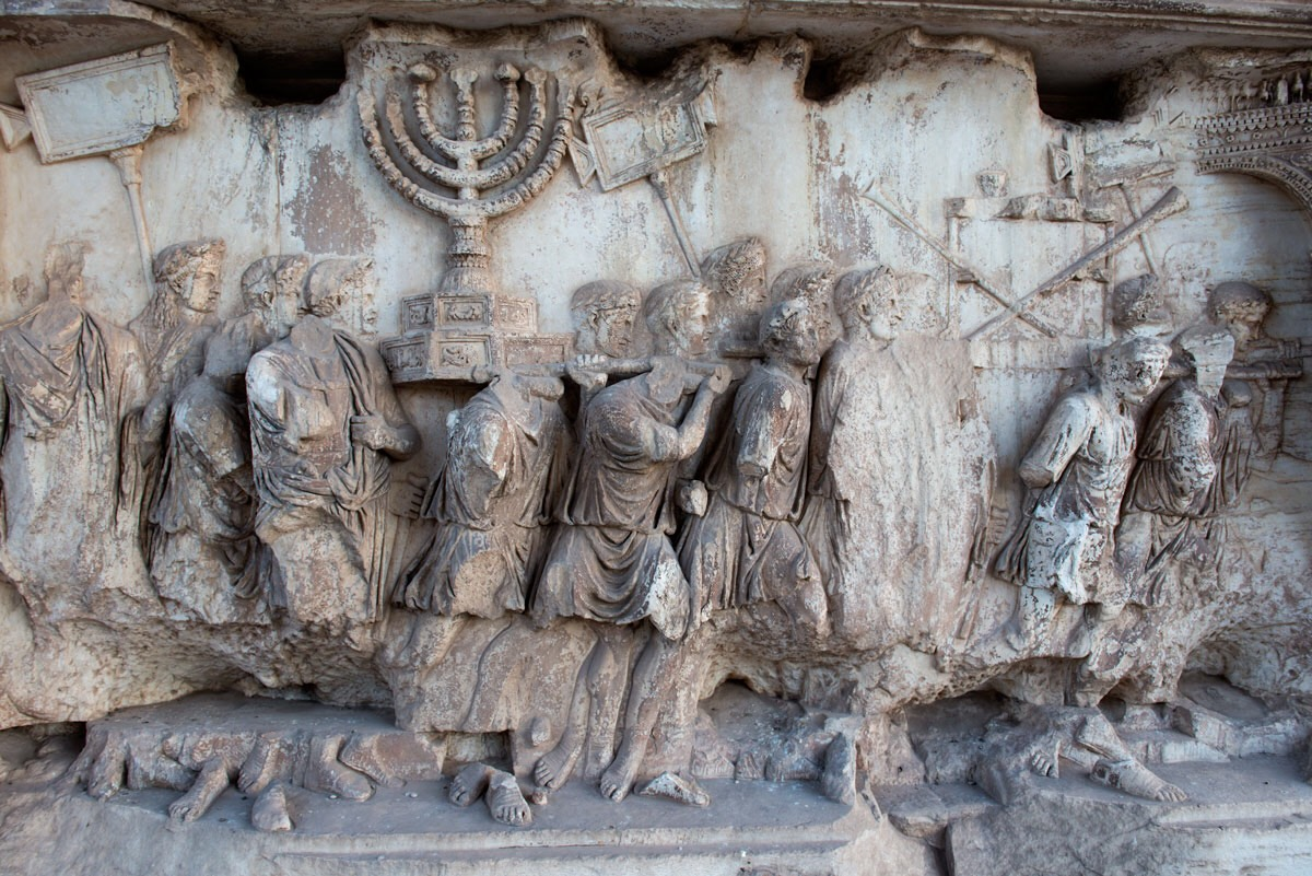 Fig. 5 Spolia Panel, Arch of Titus (Courtesy of the Yeshiva University Arch of Titus Project).