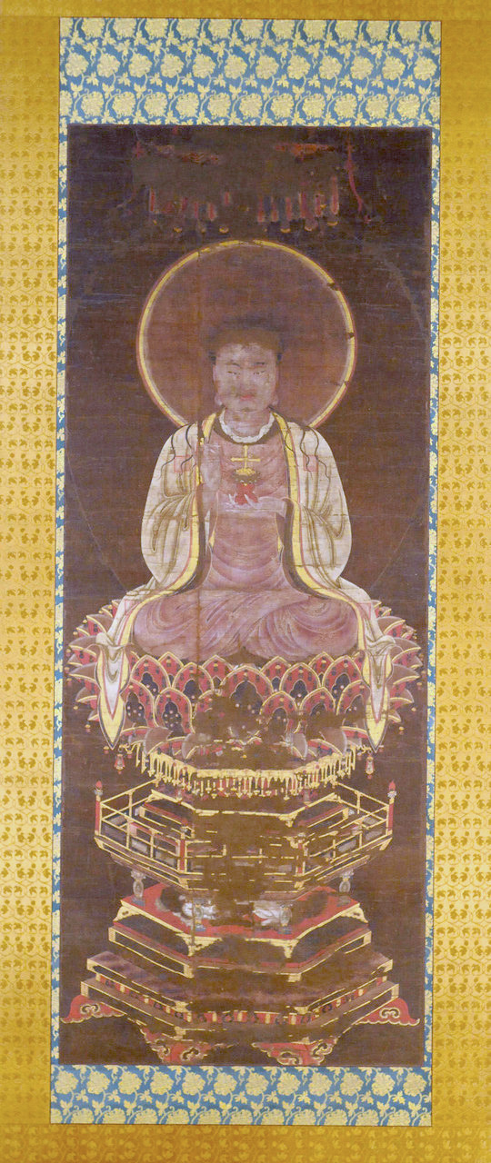 Ink silk-painting of Jesus the Manichaean Prophet | Yuan dynasty, fourteenth-century |  Image Source