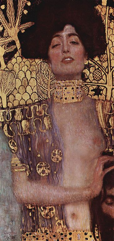 Judith and the Head of Holofernes by Gustav Klimt.