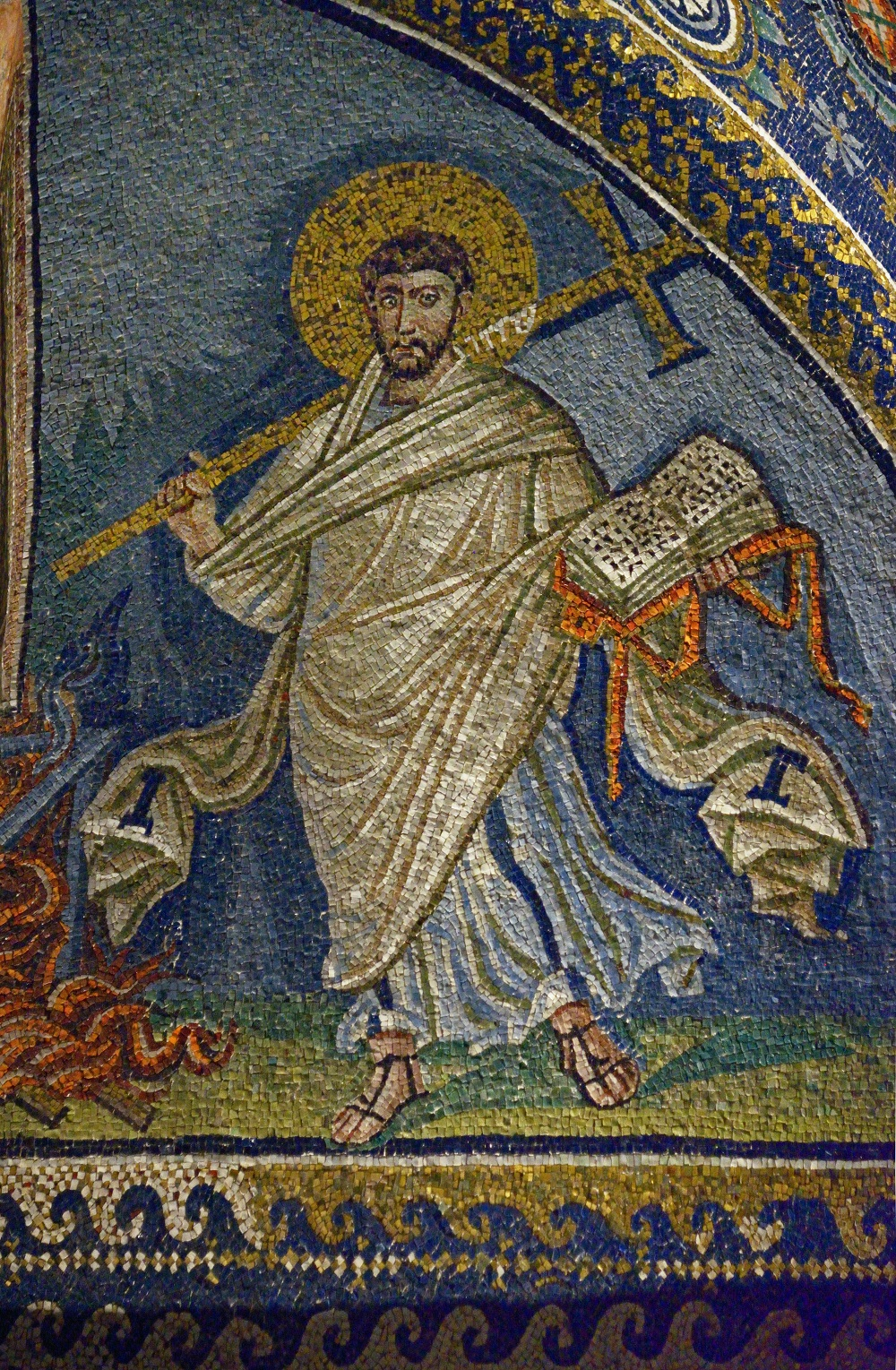 Mosaic of St. Lawrence | Mausoleum of Galla Placidia, Ravenna |  Image Source