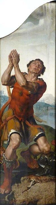 """""""Gideon thanks God for the Miracle of the Dew"""", painting by Maarten van Heemskerck (Musée des Beaux-Arts de Strasbourg)"""